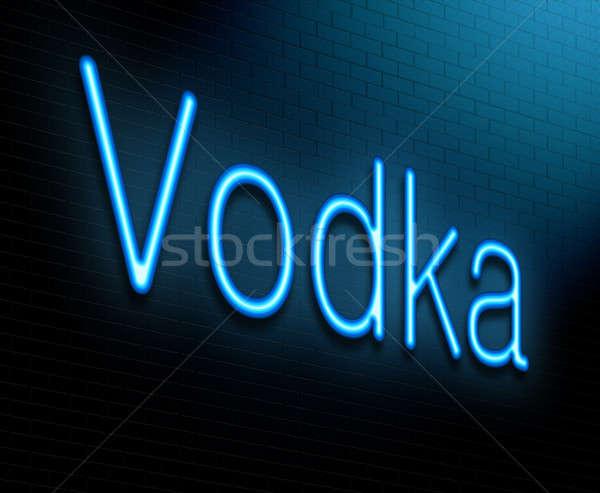 Vodka ilustración iluminado azul noche Foto stock © 72soul