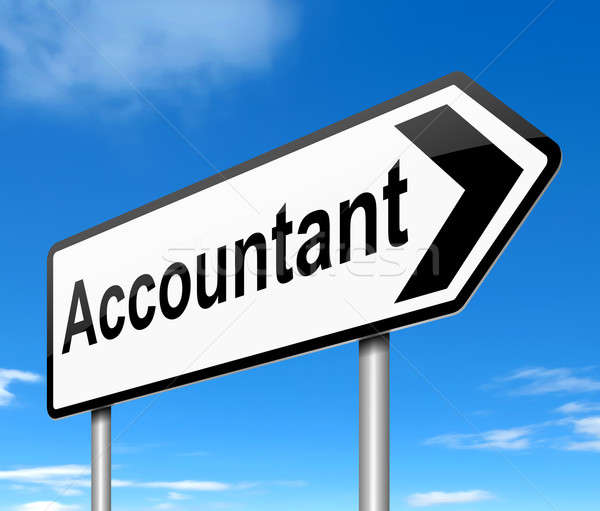 Stock photo: Accountant concept.