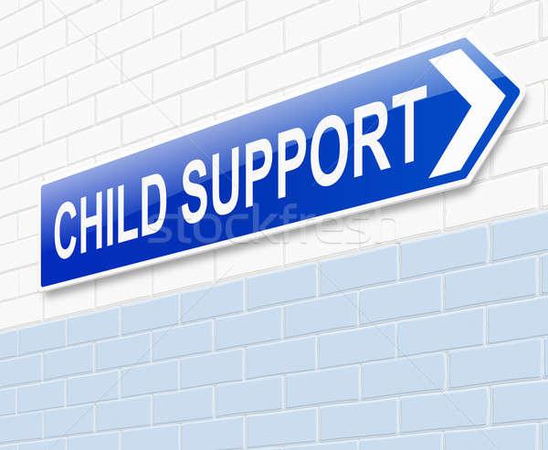çocuk destek örnek imzalamak finanse kavram Stok fotoğraf © 72soul