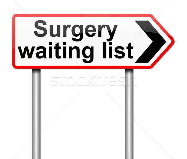 Surgical waiting list concept. Stock photo © 72soul