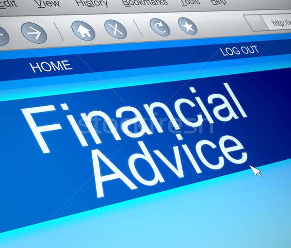 финансовые консультации иллюстрация экране компьютера захват экране помочь Сток-фото © 72soul