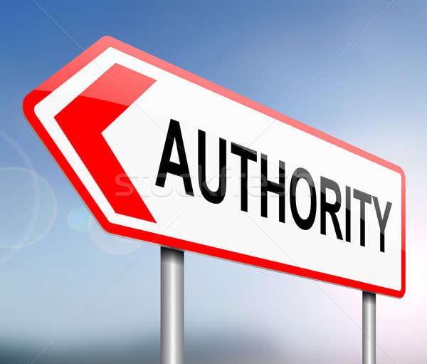 Autoridad ilustración signo concepto control gobierno Foto stock © 72soul