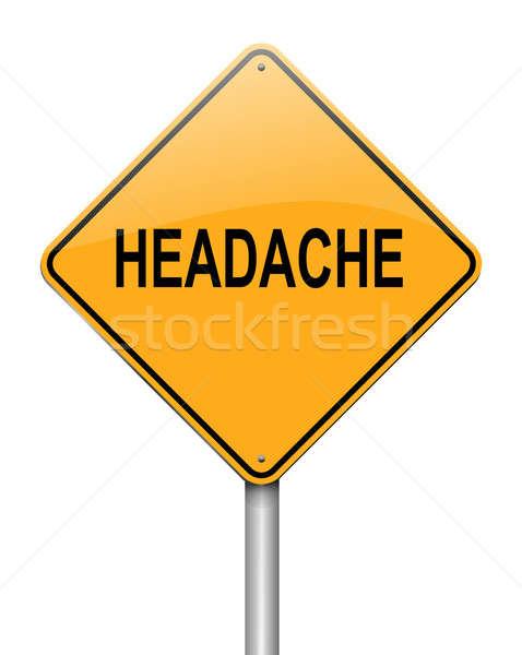 Stock photo: Headache concept.