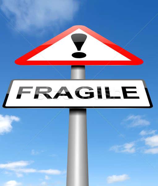 Fragile sign concept. Stock photo © 72soul