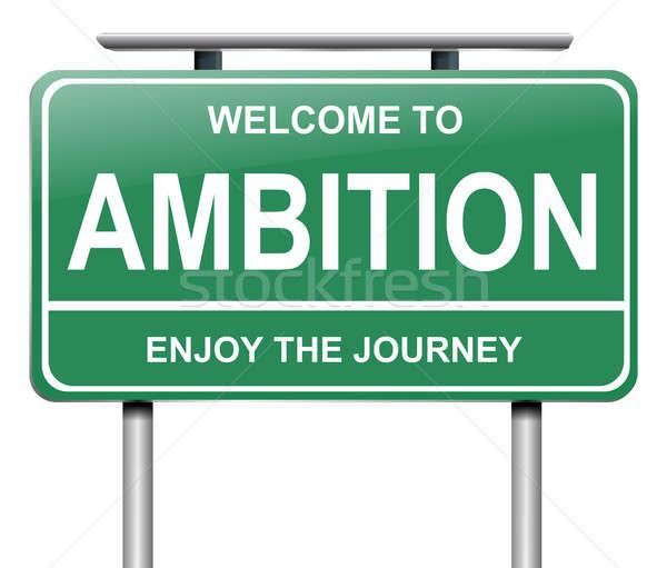 амбиция знак иллюстрация будущем целевой графических Сток-фото © 72soul