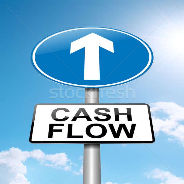 Przepływów pieniężnych ilustracja Błękitne niebo niebo ceny Zdjęcia stock © 72soul
