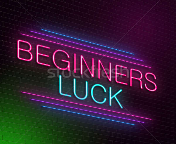 Beginners luck concept. Stock photo © 72soul