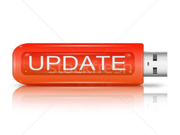 Aggiornare illustrazione usb flash drive pen tecnologia Foto d'archivio © 72soul