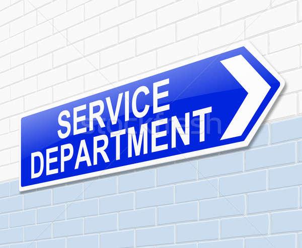 Serviço departamento assinar ilustração armazenar gráfico Foto stock © 72soul