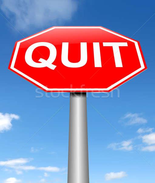 Quit concept. Stock photo © 72soul