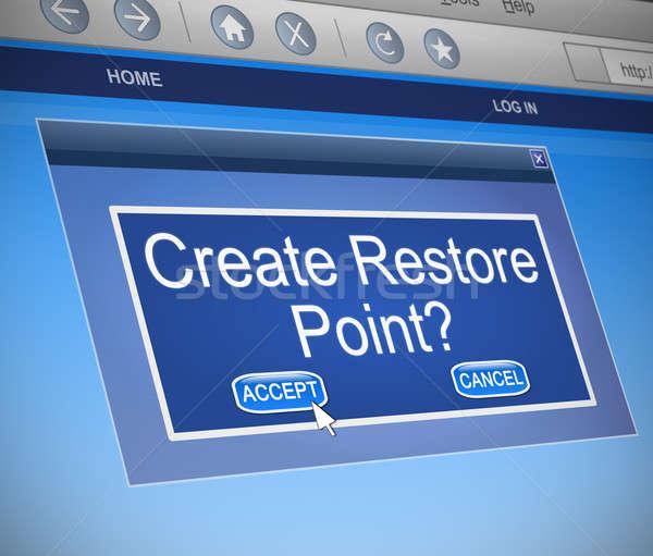 Restore Point concept. Stock photo © 72soul