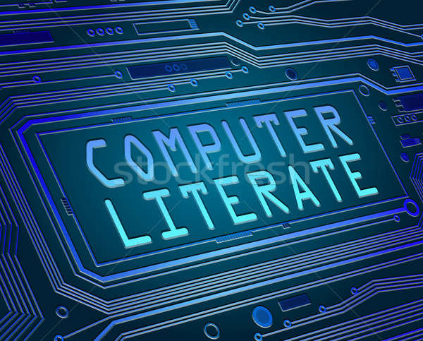 Computer literate concept. Stock photo © 72soul