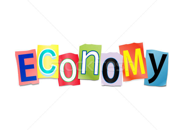 Economia ilustração conjunto impresso cartas Foto stock © 72soul