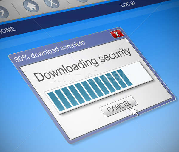 Security download concept. Stock photo © 72soul