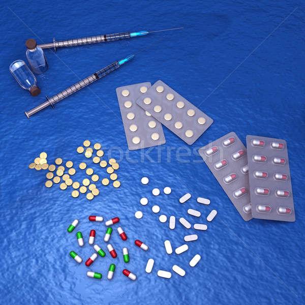Apotheek wetenschap drugs gezondheid beroep links Stockfoto © 7activestudio