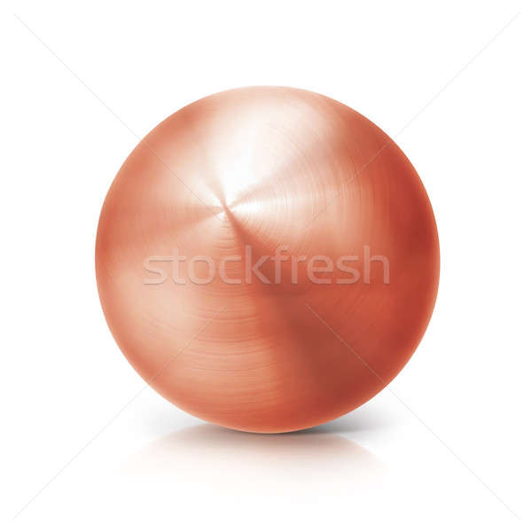 copper ball 3D illustration Stock photo © 7Crafts