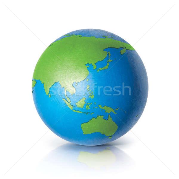 Szín földgömb 3d illusztráció Ázsia Ausztrália térkép Stock fotó © 7Crafts