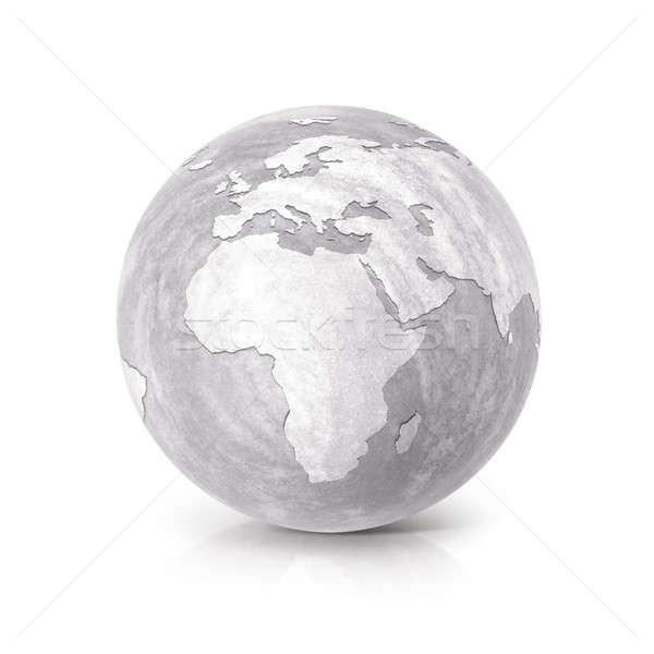 çimento dünya 3d illustration Avrupa Afrika harita Stok fotoğraf © 7Crafts