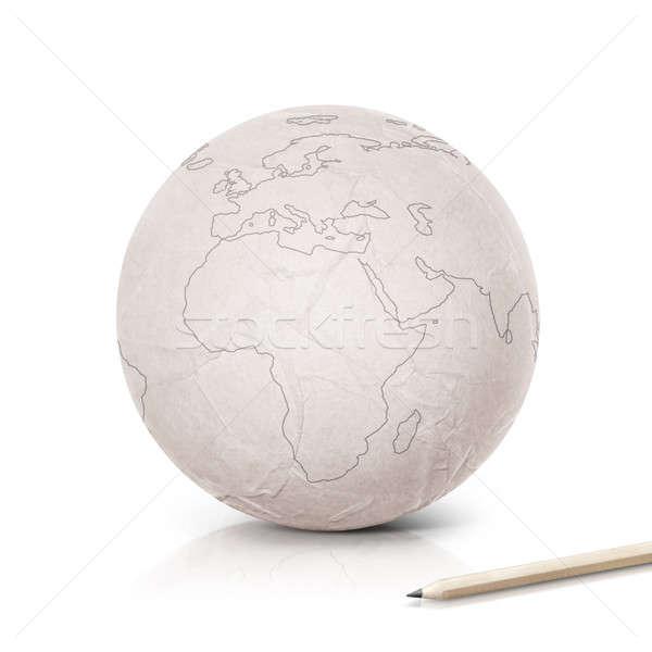 Сток-фото: Европа · карта · бумаги · мира · белый · текстуры
