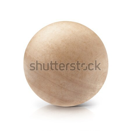Wood ball 3D illustration Stock photo © 7Crafts