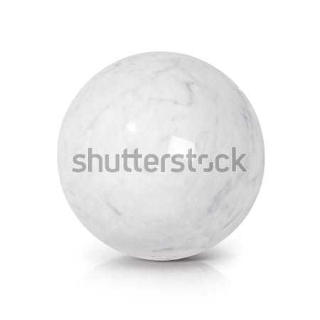 White Marble ball 3D illustration stock photo © Narongkrit