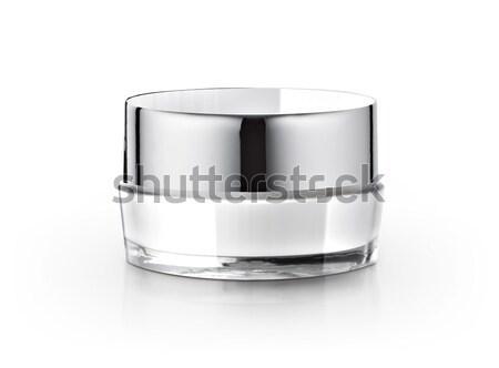 Beyaz kozmetik kavanoz sağlık Metal güzellik Stok fotoğraf © 7Crafts