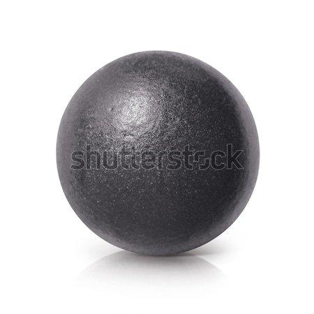 Zwarte ijzer bal 3d illustration witte textuur Stockfoto © 7Crafts
