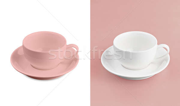 Cup on white & red background Stock photo © 7Crafts