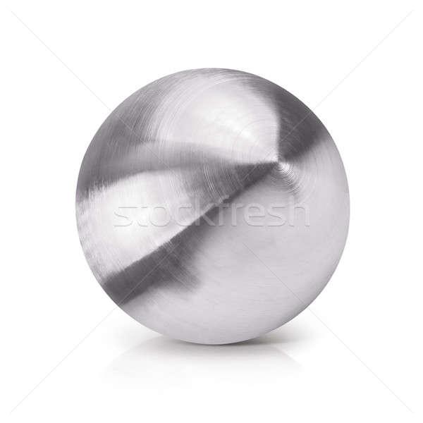 Inoxidável bola ilustração 3d branco textura mapa Foto stock © 7Crafts