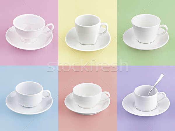 Ayarlamak farklı fincan kahve çok renk Stok fotoğraf © 7Crafts