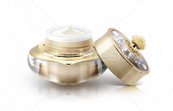 Altın taç kozmetik kavanoz beyaz sağlık Stok fotoğraf © 7Crafts
