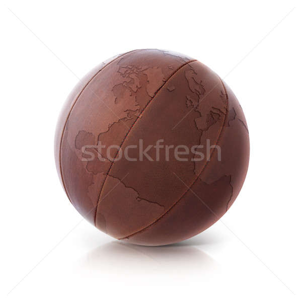 Leather globe 3D illustration North and South America map Stock photo © 7Crafts
