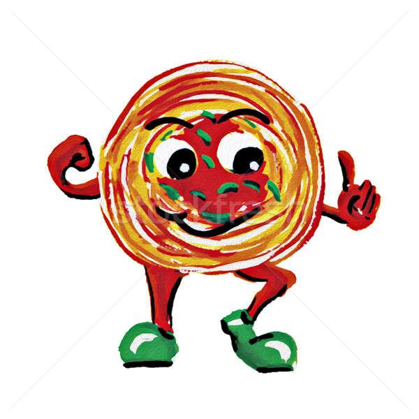 Boyama spagetti adam karakter beyaz su Stok fotoğraf © 7Crafts