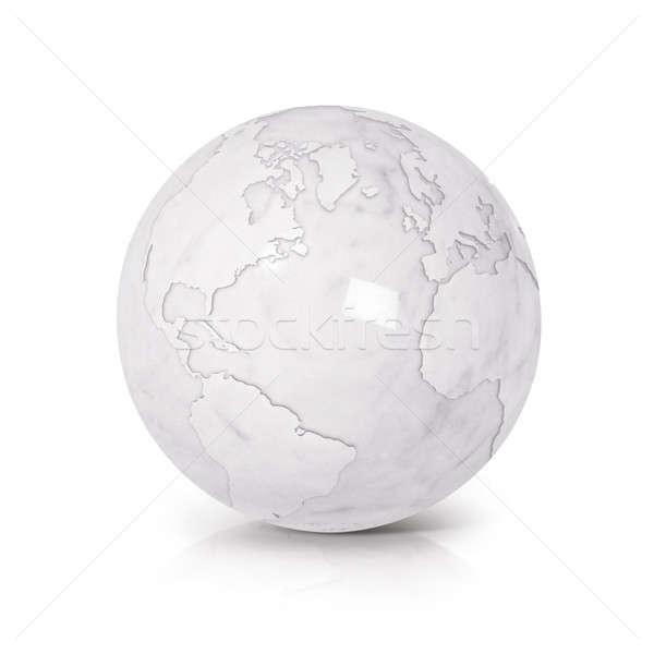 Blanco mármol mundo 3d norte américa del sur Foto stock © 7Crafts