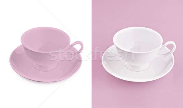 Beker witte roze textuur achtergrond thee Stockfoto © 7Crafts