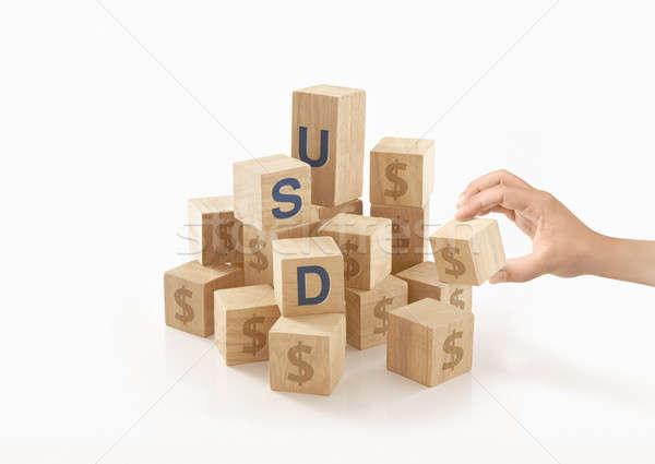 Dollar geld geïsoleerd kinderen ontwerp kunst Stockfoto © 7Crafts