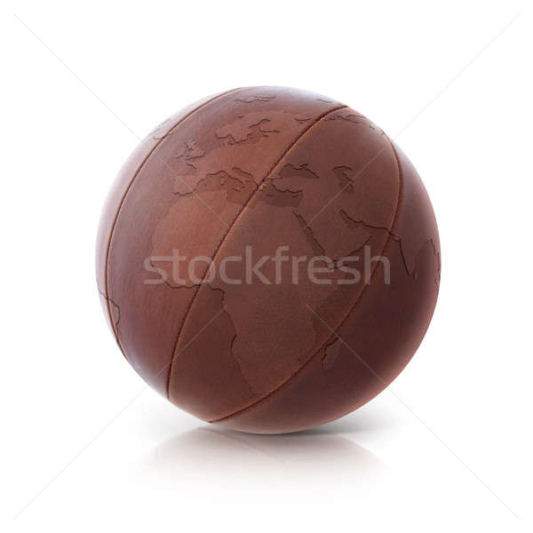 Leather globe 3D illustration europe and africa map Stock photo © 7Crafts