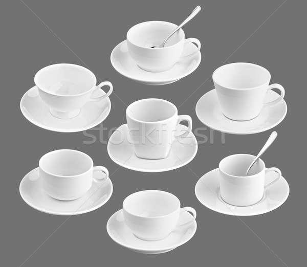 Ingesteld verschillend beker koffie zwarte ontwerp Stockfoto © 7Crafts