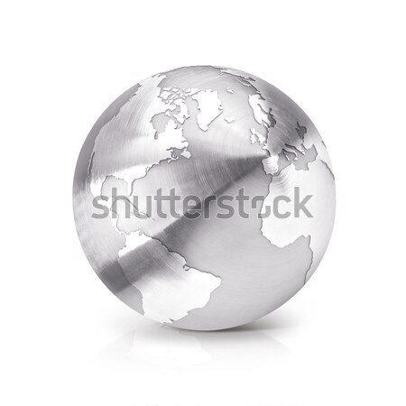 Clear glass globe 3D illustration North and South America map Stock photo © 7Crafts