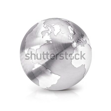 стекла мира 3d иллюстрации север Южной Америке карта Сток-фото © 7Crafts