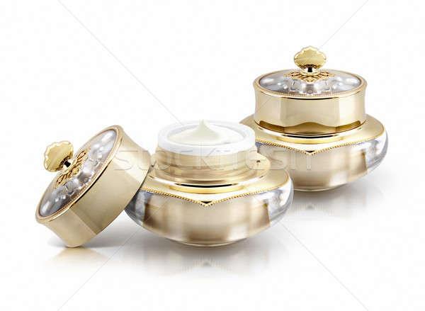 Due corona cosmetici jar bianco Foto d'archivio © 7Crafts