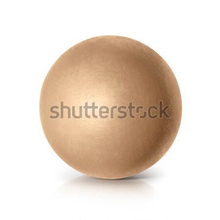 Gouden bal 3d illustration witte textuur wereldbol Stockfoto © 7Crafts