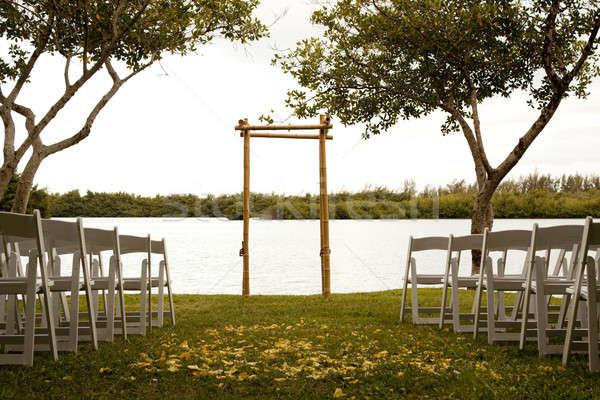 Tranquil wedding setting Stock photo © 808isgreat
