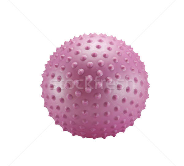 Stock photo: Pink spiky ball