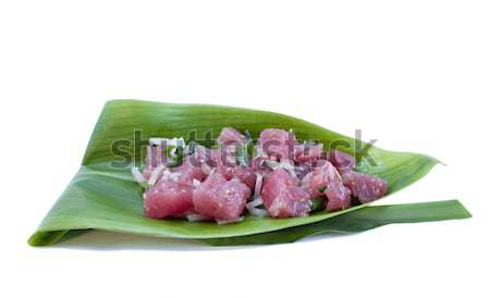Ton balığı sashimi salata somun balık Stok fotoğraf © 808isgreat
