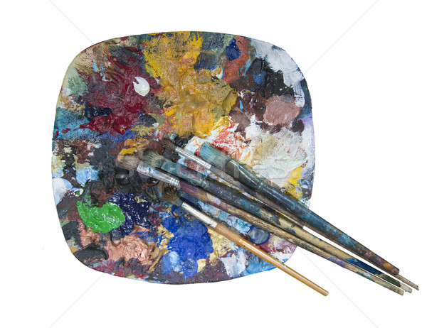 paint brush and palette Stock photo © 808isgreat