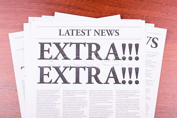 Stock photo: The newspaper EXTRA! EXTRA!