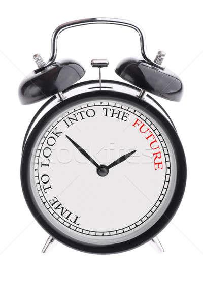 Zaman bakmak gelecek çalar saat siyah Stok fotoğraf © a2bb5s