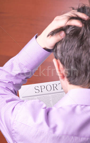 Man reading a newspaper Stock photo © a2bb5s