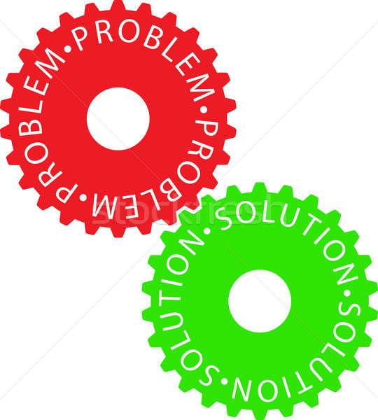 Coloré engins roue technologie machine Photo stock © a2bb5s